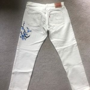 Levi's Jeans - Levi's 501s with Blossom Applique